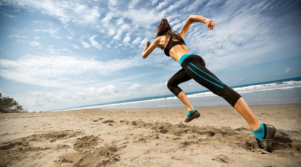Running at Pattaya Beach